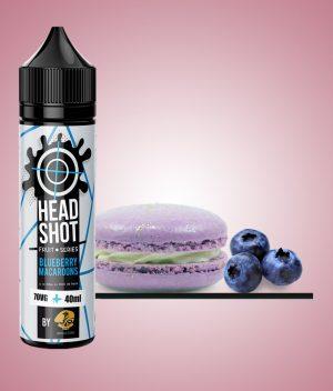 headshot blueberry macaroons